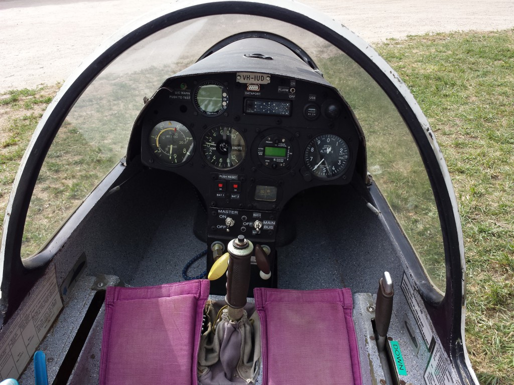 VH-IUD with new instrument panel